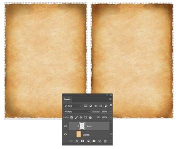Burn the paper edges