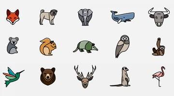 Animal Icons Logo Kit