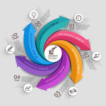 Modern Arrow Business Infographics Template