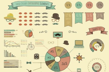 Retro Elements and Infographic Icons