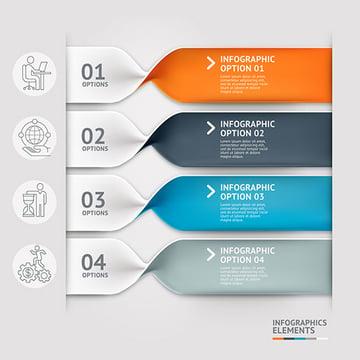 Modern Spiral Infographics Template