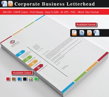 Colourful Business Letterheads