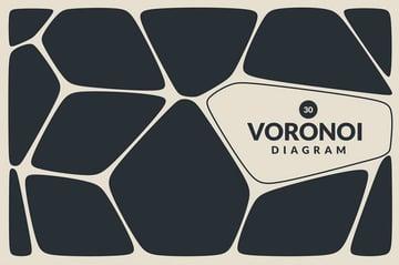 Voronoi Diagram Vector Backgrounds