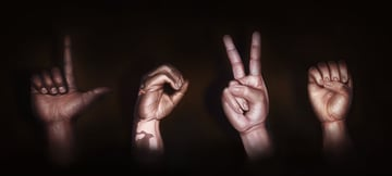 Sign Language Love Hands Digital Painting by Melody Nieves