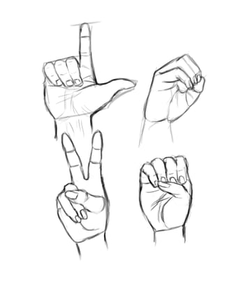 All the hand sketches for love