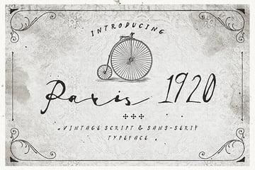 Paris 1920 Calligraphy Font Style