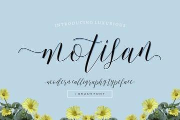 Motisan Script Calligraphy Font Download
