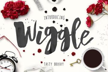 Wiggle Watercolor Brush Script