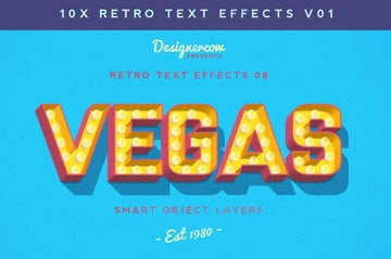 Retro Text Effects V1