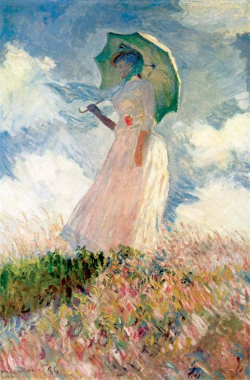 Study of a Figure Outdoors by Claude Monet
