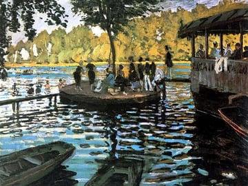 La Grenouillre by Claude Monet