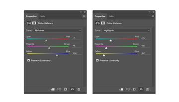 Add a Color Balance Adjustment Layer