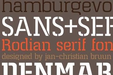 Rodian Serif Stencil Font
