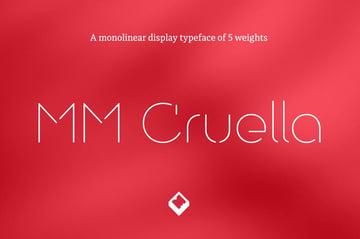 MM Cruella Stencil Typeface