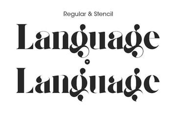 Giza Pro Script Stencil Font