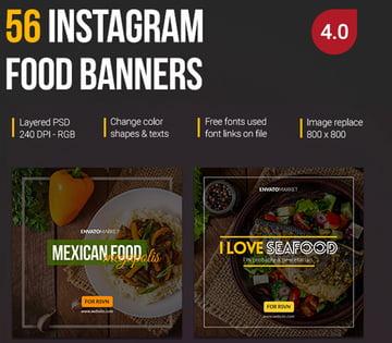 56 Instagram Food Banners