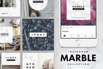 Instagram Marble Pack
