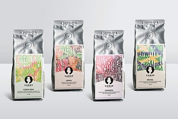 Caras Coffee Packaging by Isabella Thaller
