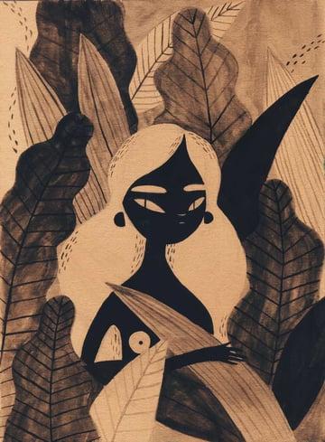 Inktober by Rachel Katstaller