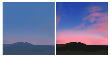 using gradients to change the sky color