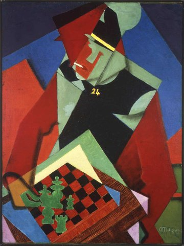 Soldier at a Game of Chess by Jean Metzinger