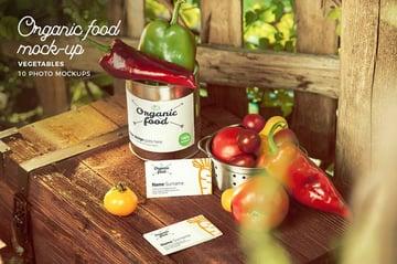 Organic Food Photo Mockup