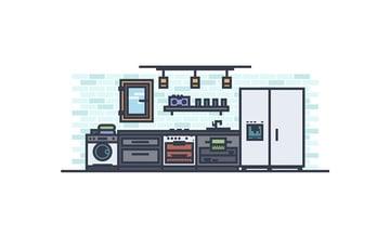 Modern Kitchen Illustrator Tutorial
