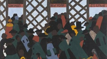 Migration Series Panel by Jacob Lawrence