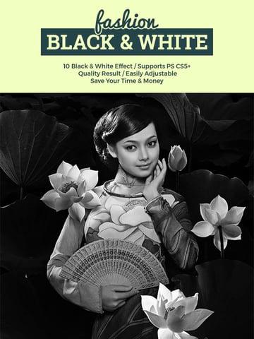 Fashion Black  White Action