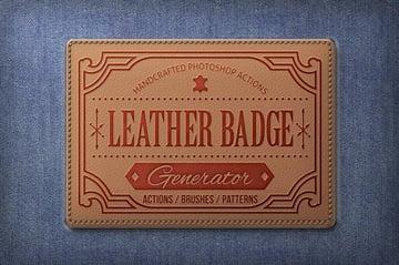 Leather Badge Generator