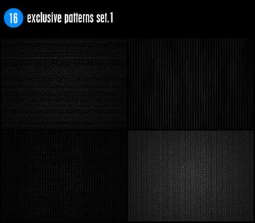 16 Exclusive Patterns Set