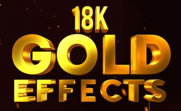 3D Gold and Metal Effects