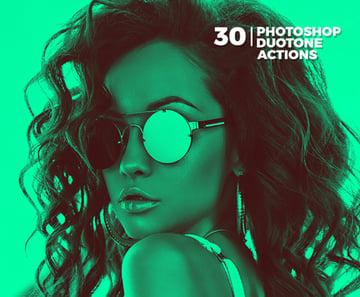 30 Duotone Photoshop Actions