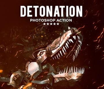 Detonation Photoshop Action