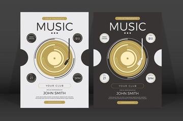 Minimalist Music Event Flyer