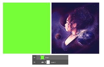 Add a neon green fill
