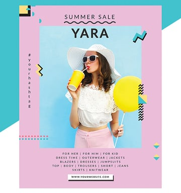 Stylish Fashion Poster Flyer Template
