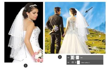 Add the first wedding veil