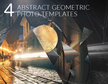 4 Abstract Geometric Photo Templates