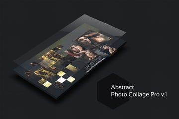 Dark Photo Collage Template