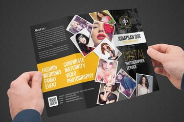 Photography Collage Trifold Brochure