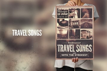 Travel Songs Flyer Collage