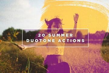 20 Summer Duotone Photoshop Action