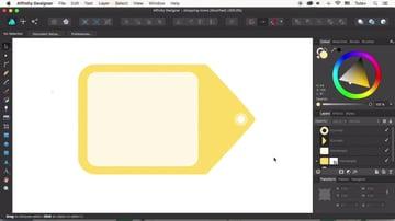 Create the tag and badge hole