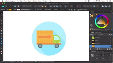 Finish the truck icon design