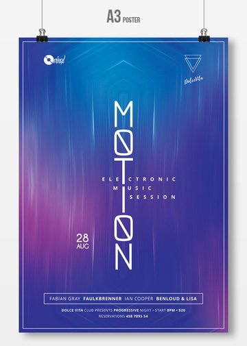 Motion - Minimal Party Flyer
