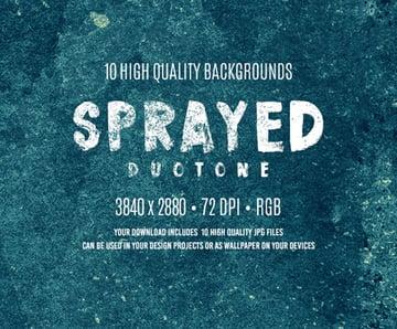 Sprayed Duotone Backgrounds