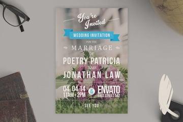 Typography Wedding Invitation
