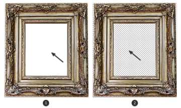 Remove the white from the frame