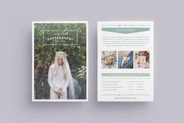 Wanderers Wedding Flyer Price List